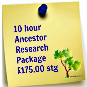 10 hours Ancestor Research Package