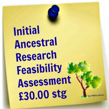 Initial Ancestral Research Assessment